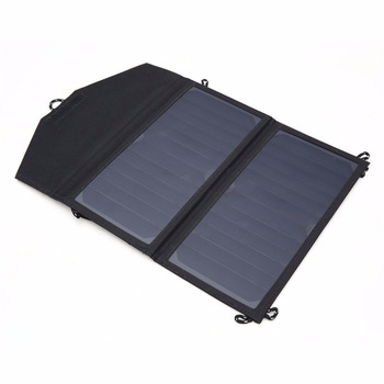 20W solar folding bag portable USB battery charger power pack solar charging