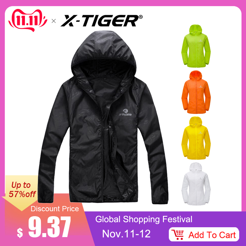 X-TIGER Windproof Reflective Radtrikot MTB Fahrrad Windcoat Super Light Sunscreen Wanderjacke Radsport Sportbekleidung
