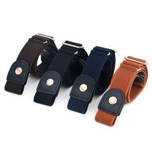 Skórzany elastyczny pas Jeans prosty męski i damski niewidoczny pasek tanie tanio Deepeel Dla dorosłych Poliester WOMEN Na co dzień Stałe BL071