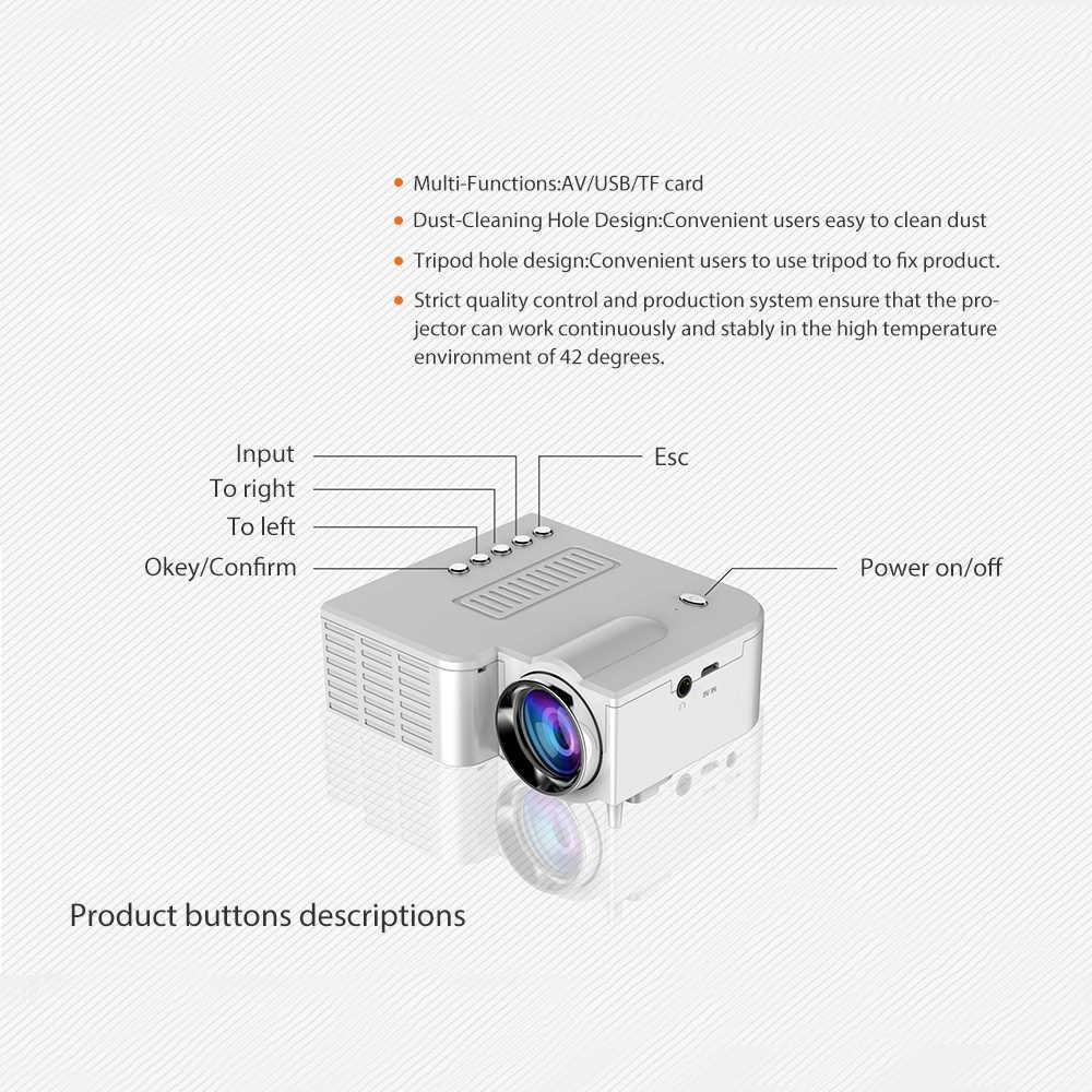 Proyector UNIC UC28CB compatible con interfaz USB, TF, AV compatible con teléfono móvil con cable con la misma frecuencia de pantalla + Bluetooth