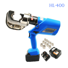 1PC HL-400 Rechargeable Hydraulic Pliers Machine 18V Electric Crimping Tools Battery Powered Wire Crimpers