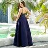 Plus Size Sequin Dress A-Line Spaghetti Straps V-Neck Sequined Asymmetrical Ruffles Elegant Satin Party Dress Vestidos De Verano 2