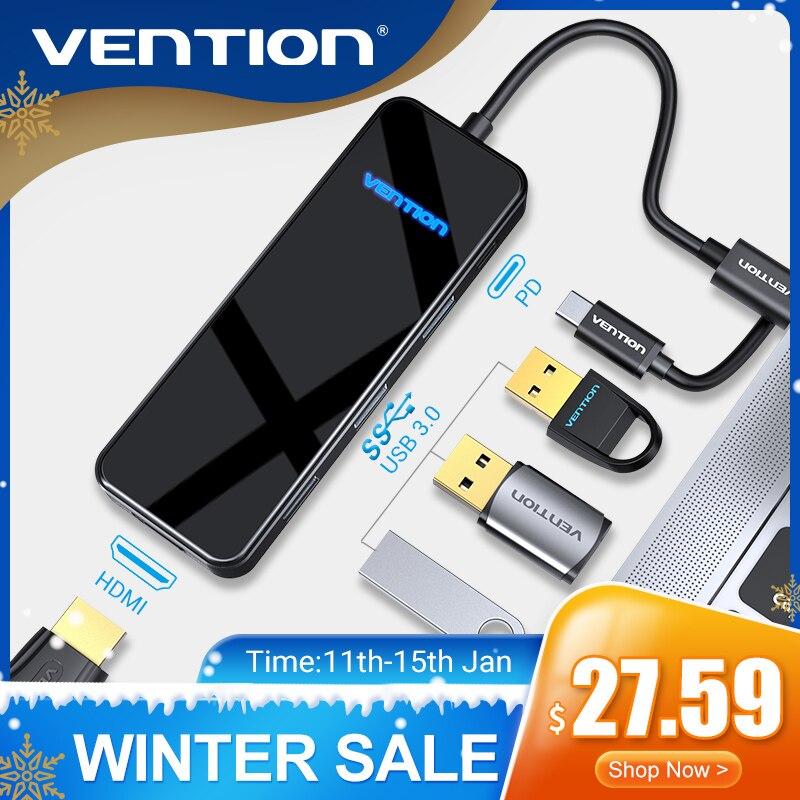 Prise en charge USB C HUB type-c vers HDMI Multi USB 3.0 HUB adaptateur Dock pour MacBook Pro Huawei Xiaomi USB-C 3.1 répartiteur Port Type C HUB