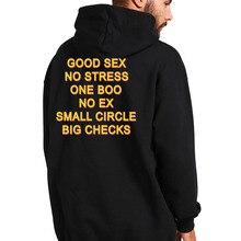 מצחיק סקס טוב אין מתח אחד Boo לא Ex קטן מעגל גדול בדיקות נים שחור ארוך שרוול קטיפה חם סלעית סווטשירט