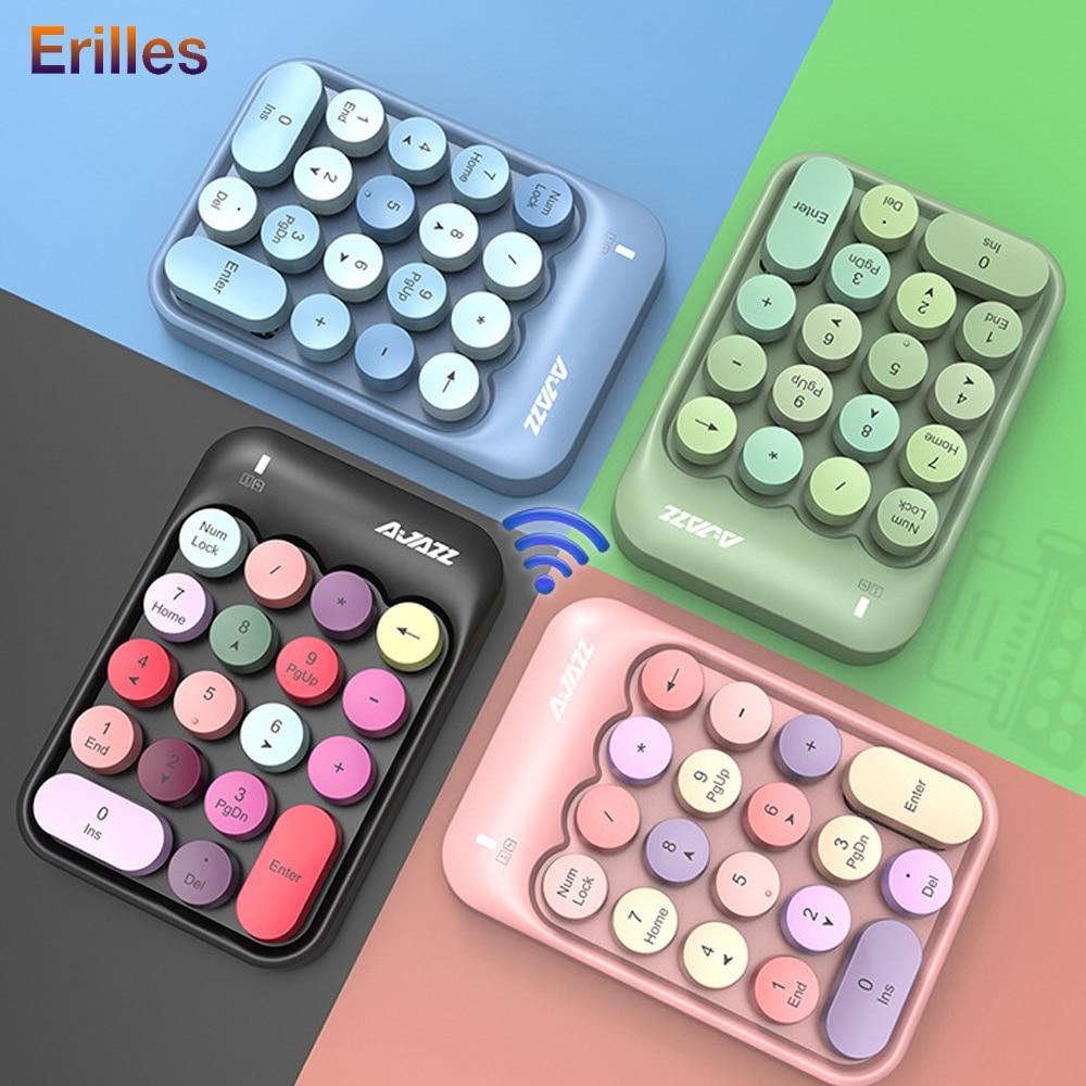 2.4G Wireless Keyboard Mini 18 Keys Numeric Keypad Computer Digital Keyboard For PC Accounting tasks Pink Keyboard