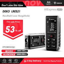 DEKO LRE521 el lazer mesafe ölçer Mini lazer menzil lazer bant mesafe bulucu Diastimeter tedbir 40M 60M 80M 100M
