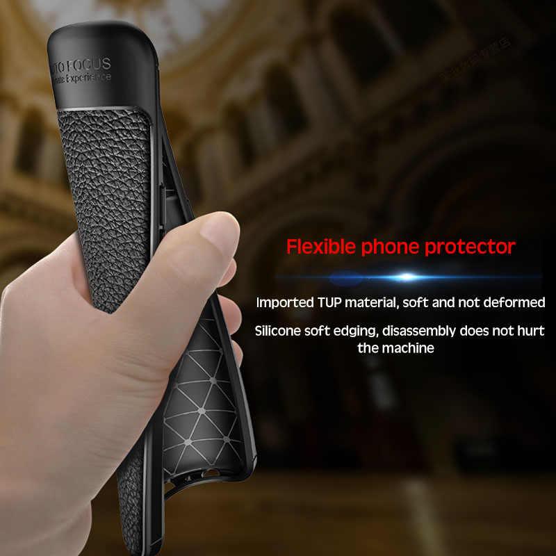 ソフトシリコーン革電話ケースモト G7 G6 G5 G4 E5 P40 P30 Z4 プラス再生行く電源 1 ホルダースタンドカバー coque
