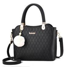 Vintage Pom-pom Mother Bag Plaid Designer Handbag Quality 2019 New Shoulder Bag Travel Fashion Autumn and Winter New Women's Bag pom pom decor plaid shoulder bag