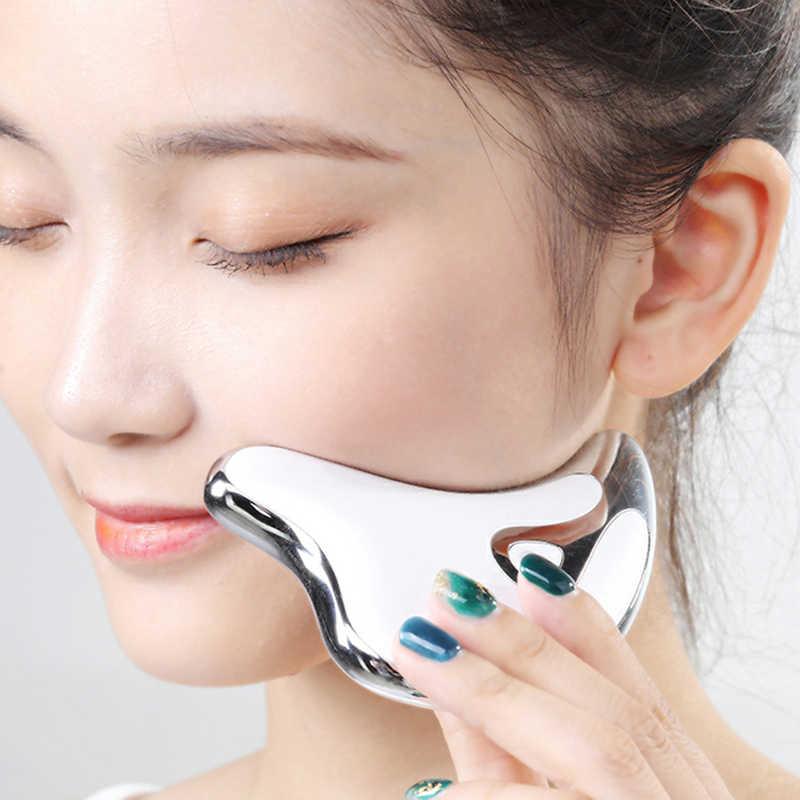 الوجه الرقبة جواشا مدلك إزالة تجاعيد الوجه جهاز الجسم التخسيس مدلك Electirc الوجه الجلد الجمال الرعاية كشط أداة