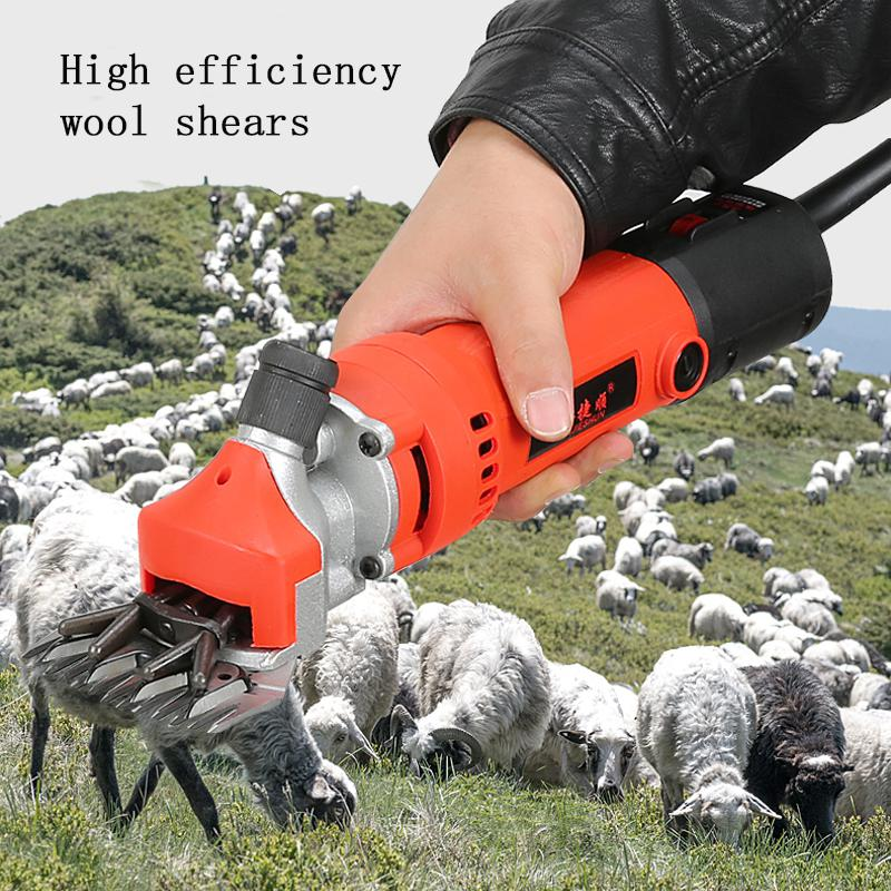 Adeeing 750W 220V 6Modes Speed Electric Sheep Shearing Cutter Goat Hair Shaving Push Trimmer Tool With Box