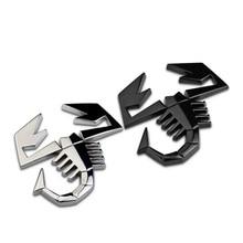 1Pcs Car Styling 3D Metal Sticker Scorpion Logo Badge Emblem Decal for Fiat 500 Punto Bravo Stilo Panda Abarth 500
