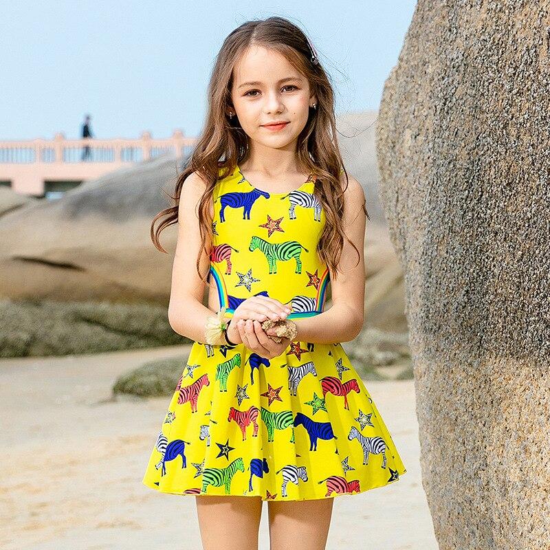 2019 New Style Children Big Boy Students Swimwear Korean-style Bathing Suit Skirt CHILDREN'S Swimsuit Bow Camisole One-piece