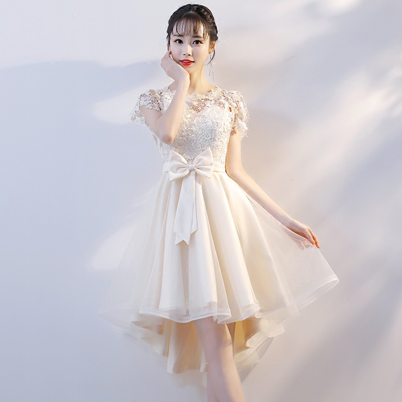 Bridesmaid Mission Dress Small Dress Women's 2019 New Style Nobility Banquet Annual General Meeting Slimming Host Evening Gown S