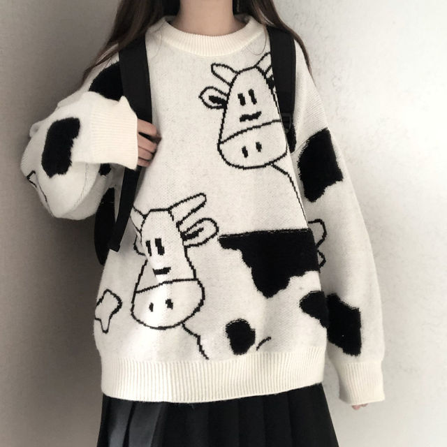 Sweater pullover autumn and winter new sweet pullover sweater female student Korean version loose wild sweater coat trend 2021