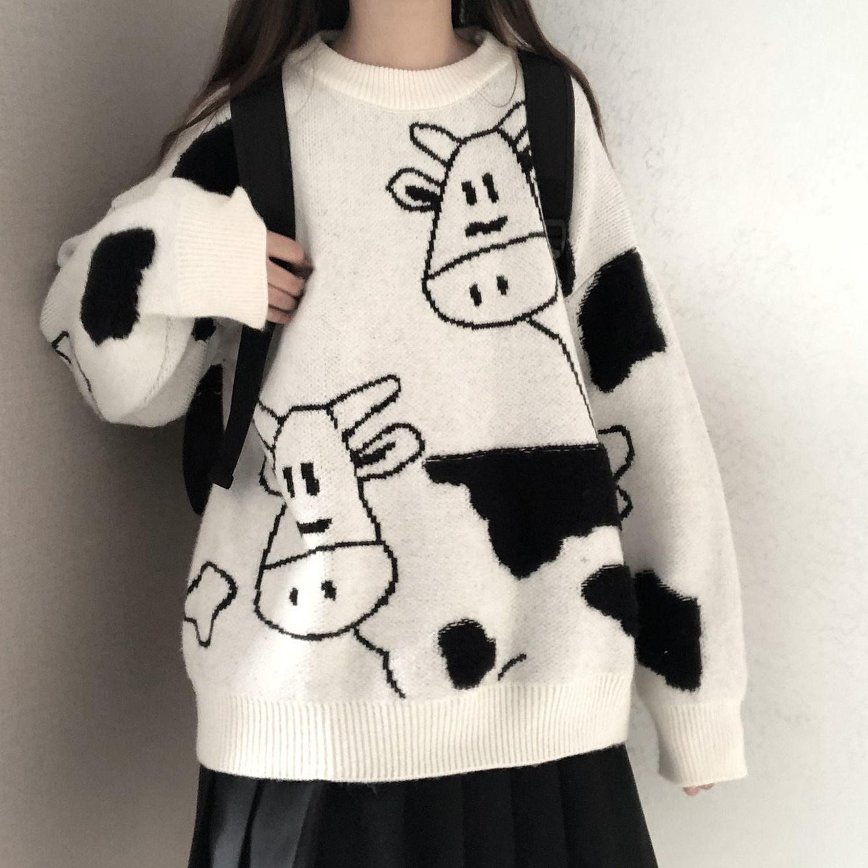 Свитер, пуловер, Новинка осени и зимы, милый пуловер, свитер для женщин, Студенческая Корейская версия, Свободный дикий свитер, пальто, тренд ...