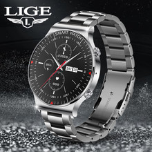 LIGE New Smart Watch Men Women 2021 Bluetooth Call Watch Music Control Pedometer DIY Watch Face Smartwatch Men For Android IOS