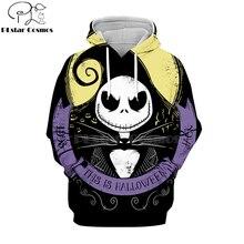 PLstar Cosmos nightmare before christmas jack skellington 3d hoodies/shirt/Sweatshirt Winter Christmas Halloween streetwear-9