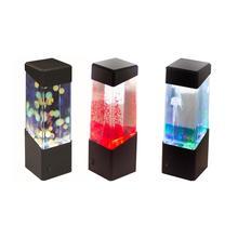 USB Powered LED Night Light Hypnotic Jellyfish Relaxing Aquarium Bedside Lamp Desktop Atmosphere Volcanic Light Jelly Lamp kids