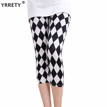 YRRETY 2019 Women High Quality Capris Waisted Floral Printing Pants Ladys Fitness Leggings Seventh Elastic Slim