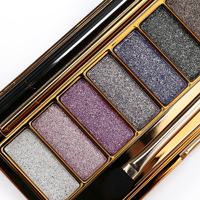 Professional Eye Shadow Pallete Makeup 9 Colors Diamond Bright Glitter Shiny Eyeshadow Make Up Palette Waterproof With Brush 4
