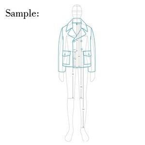 Image 2 - זכר אופנה שליט בגד עיצוב אפקט סגנון גברים ציור תבנית שליט מקורי עיצוב דגם 25cm גובה