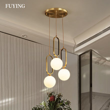 2021 Nordic Luxury LED Gold G9 Round Glass Ball Pendant Lights Modern Restaurant Living Room Bedroom Home Indoor Hanging Lamp