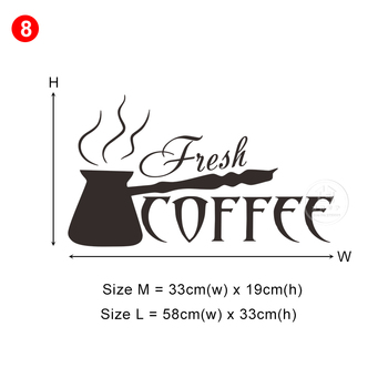 28 styles Coffee Wall Stickers Vinyl Wall Decals Kitchen Stickers English Quote Home Decorative Stickers PVC Dining Room Shop 11
