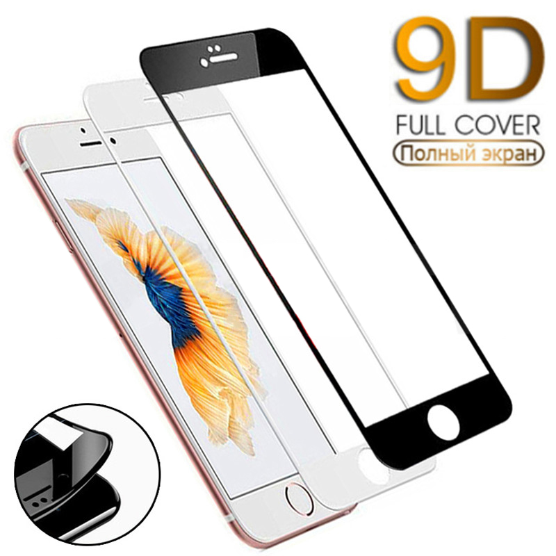 9D Curved Edge Full Cover Tempered Glass on the For iPhone 7 6 6S 8 Plus SE Glass X XR XS 11 Pro Max Screen Protector Film Case 1