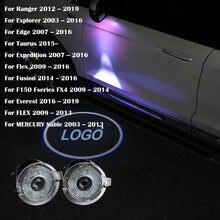 2 шт Автомобильная дверная лампа проектор логотипа для ford