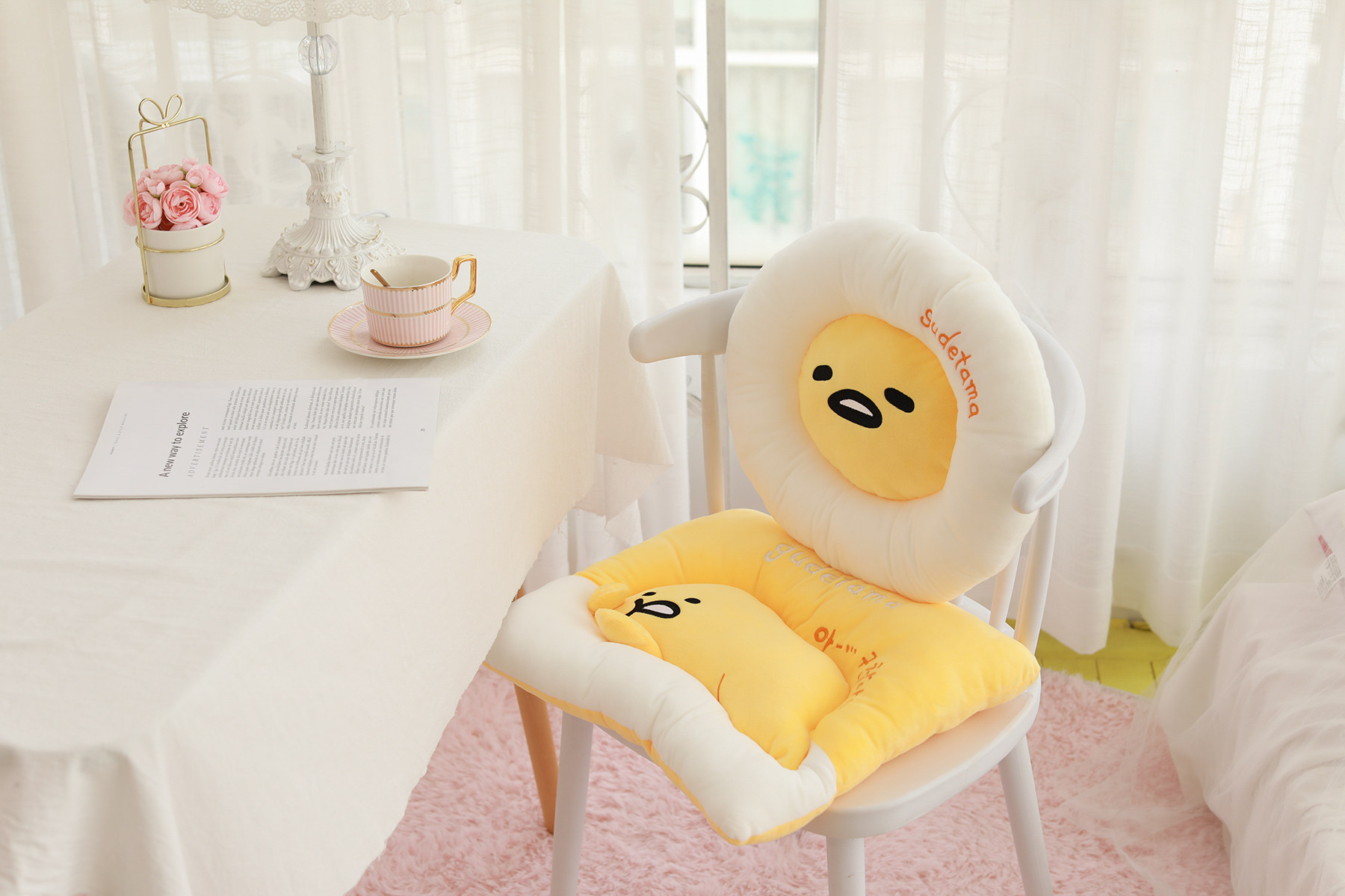Anime Gudetama Egg With Hat U Shaped Pillow Cushion Neck Pillows Great Gift