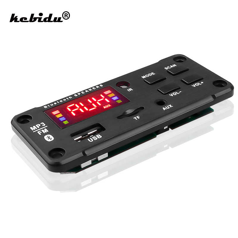 Pantalla grande Color coche Audio USB TF FM Radio módulo inalámbrico Bluetooth 5V 12V MP3 placa decodificadora WMA MP3 reproductor con Control remoto