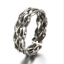 2016 New Style Antique Silver Hollow out Twisted And Braided Shaped Ring Bird Nest Image Retro Women Ringent Ring Free Shipping(China)