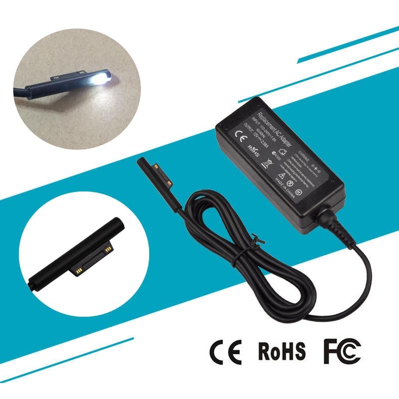 12V 2.58A 36W AC ПИТАНИЕ Шнур адаптер кабель зарядное устройство для Microsoft Surface Pro 3 Pro 4 (i5 i7 ) Pro3 Pro4 1625 высокое качество