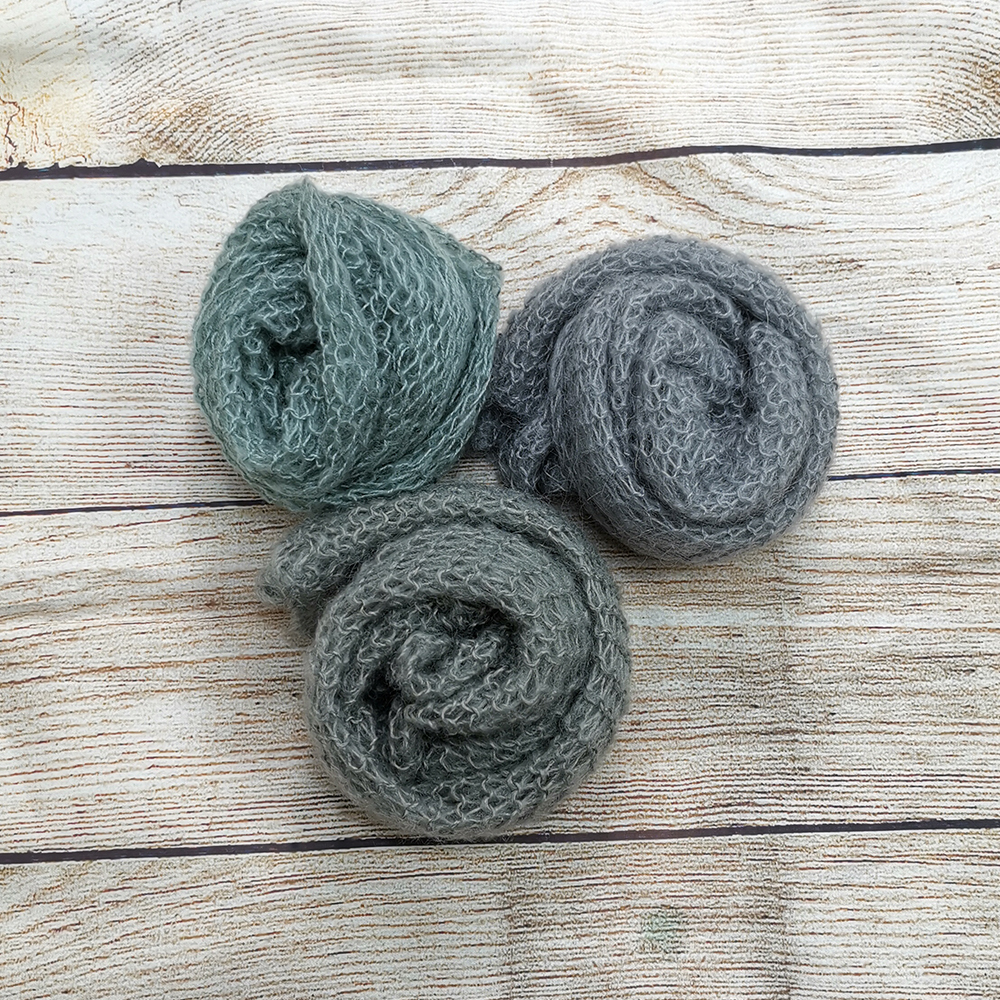 Clearance Handknit Soft Stretch Real Mohair Baby Wraps 60x30cm Newborn Photography Wrap by Packs for Newborn Photography Props