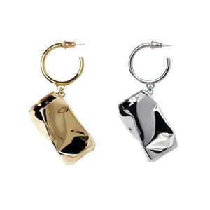 Image 4 - AMBUSH 925 zilver gevouwen kan Oorbellen hip hop mode sieraden originele geschenkdoos