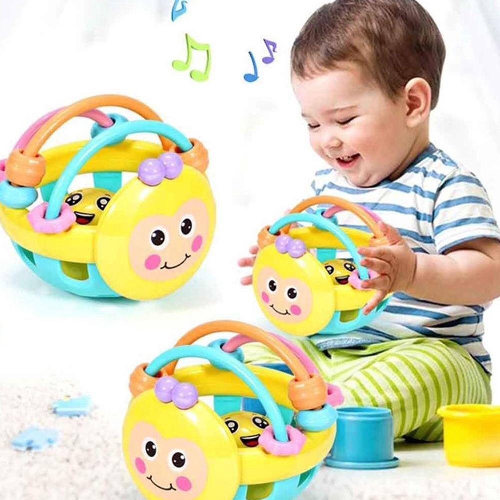 Cartoon Bee Soft Colorful Baby Rattle Ball Hand Bell Educational Teething Toy Birthday Gifts Develops Visual Audio&tactile Sense