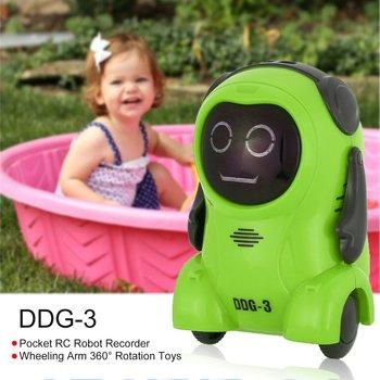 RC Robot Recorder Freely Wheeling 360 Rotation Arm Toys for Kids Fun Gift 2