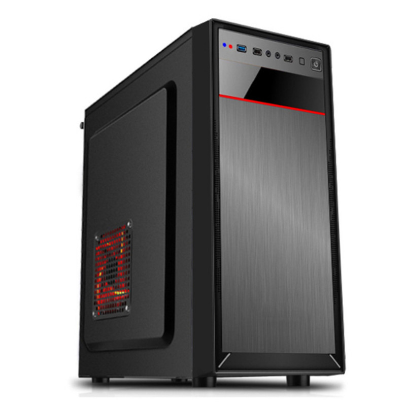 <font><b>Mini</b></font> Computer <font><b>Case</b></font> 0.45mm Steel Plat mATX <font><b>ATX</b></font> Gaming Tempered Computer <font><b>Case</b></font> HTPC <font><b>Case</b></font> for Household Office <font><b>PC</b></font> image