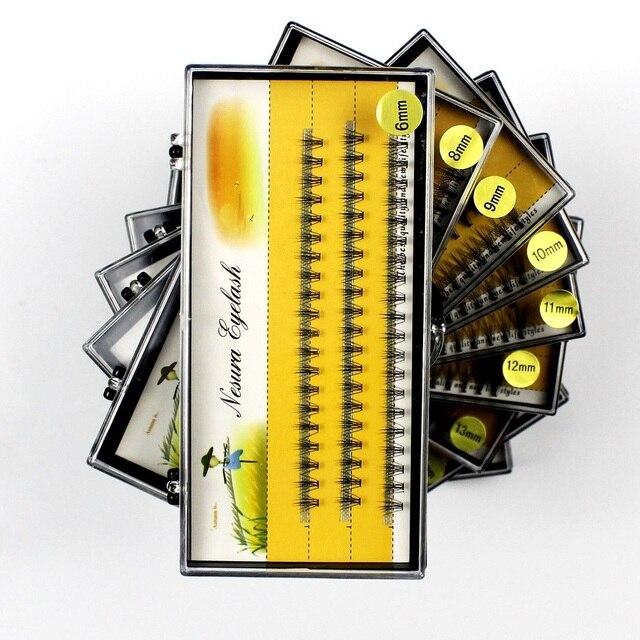 Grafting World Eyelash individual Eyelash  60 pcs 6mm to 15mm Deep Black Russia Volume cilia