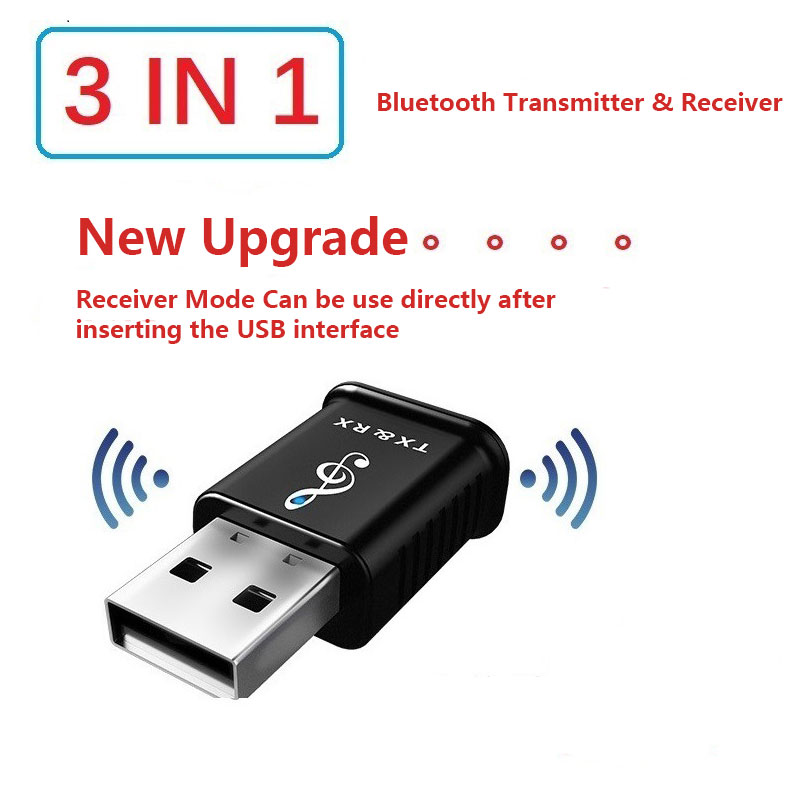 Three-in-one USB Bluetooth Transmitter Receiver 5.0 Computer TV Speaker Car Wireless Bluetooth Adapter dongle