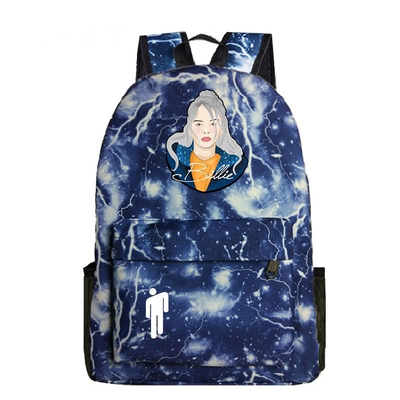 Купить с кэшбэком Billie Eilish Nylon High Quality Casual Backpack School Bag Student Backpack Fashion Girl School Bag Backpack