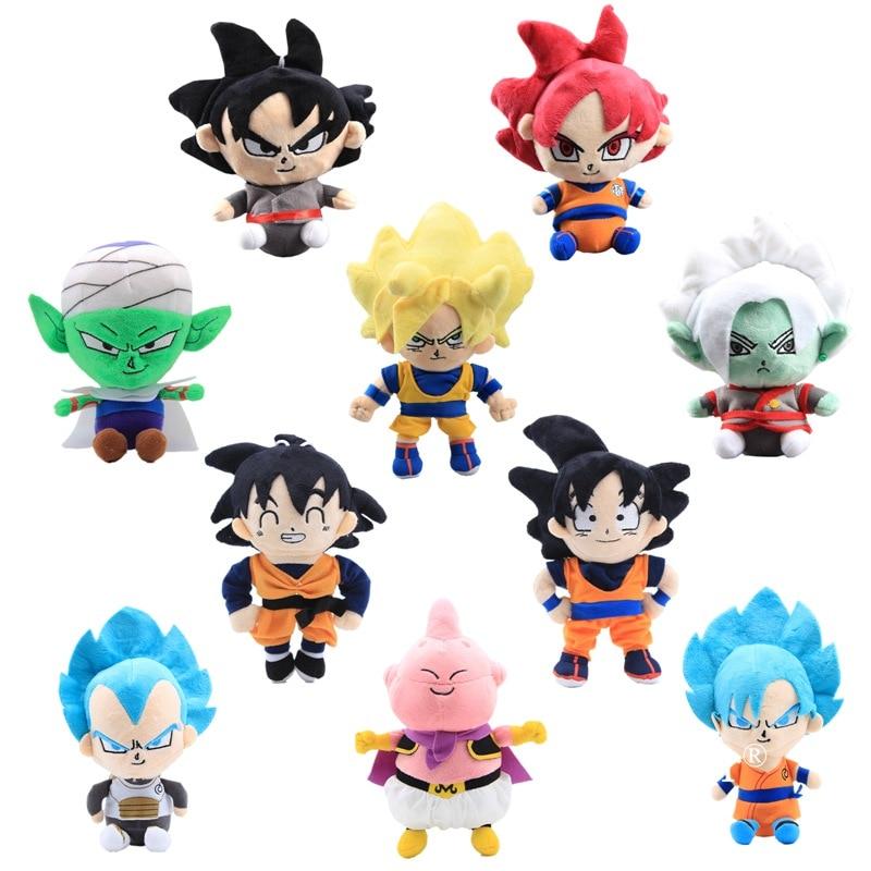 Anime Dragon Ball Z Plush Toy Doll Figure 17-25cm Super Saiyan Son Goku Gohan Majin Buu Saiyan Zamasu Figure Plush Toys Gift