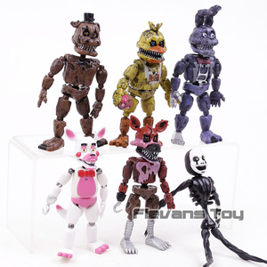 Image 2 - FNAF Five Nights At Freddys Nightmare Freddy Chica Bonnie Funtime Foxy PVC Action Figures Toys Sets