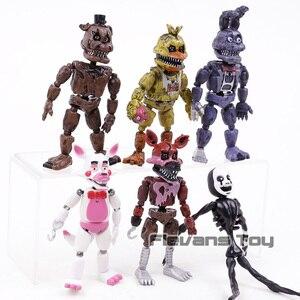 Image 2 - Fnaf Vijf Nachten Op Freddy S Nightmare Freddy Chica Bonnie Funtime Foxy Pvc Actiefiguren Speelgoed Sets