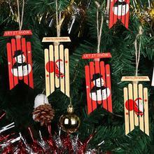 OurWarm 2pcs Vintage Wooden Sled Ornament Christmas Tree Decorations Happy New Year Sled Decoration New Year Gifts цена в Москве и Питере