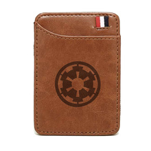 Classic Star Wars Brown Leather Wallet Retro Men Women Magic  Card Holder Bifold Clamps for Money шлем для скейтборда pro tec classic matte brown retro