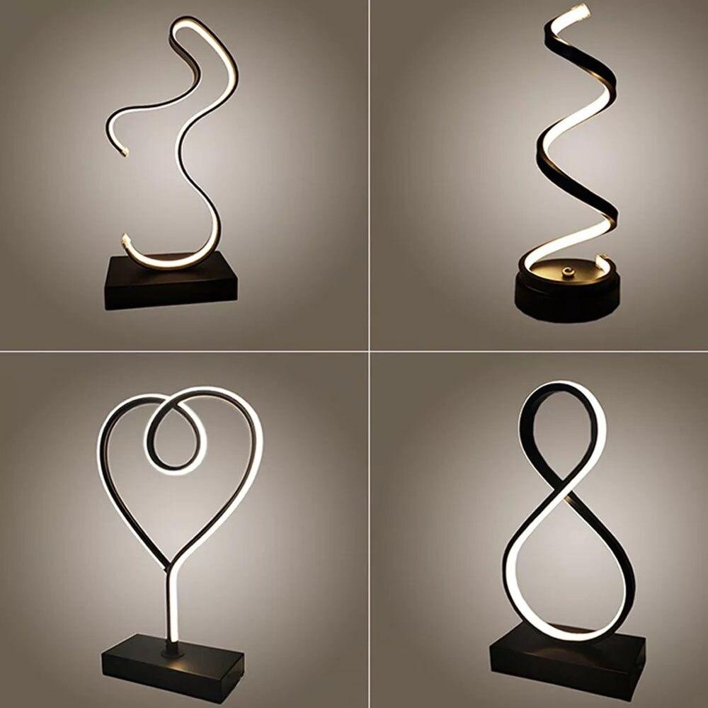Современные светодиодные настольные лампы, украшение в помещении, Настольные светильники, освещение для чтения в спальню, 15 Вт, дистанционн...