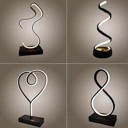 Nowoczesne lampy stołowe led dekoracja wnętrz lampa na biurko sypialnia oświetlenie do czytania 15W pilot sypialnia biurko szkolne lampa Nordic w Lampy stołowe LED od Lampy i oświetlenie na