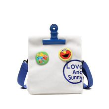 2019 fashion canvas bag new printing ladies shoulder small square female Velcro  art fresh girl Messenger ZX-066.