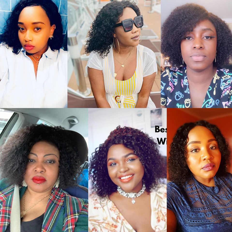 Sleek Korte Menselijk Haar Pruiken Kinky Krullend Pruik Voor Vrouwen Remy Braziliaanse Haar Pixie Cut Pruik Natuurlijke Deel Krul Pruiken snelle Frankrijk Usa